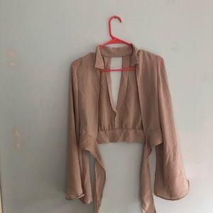 Fun crop top blouse